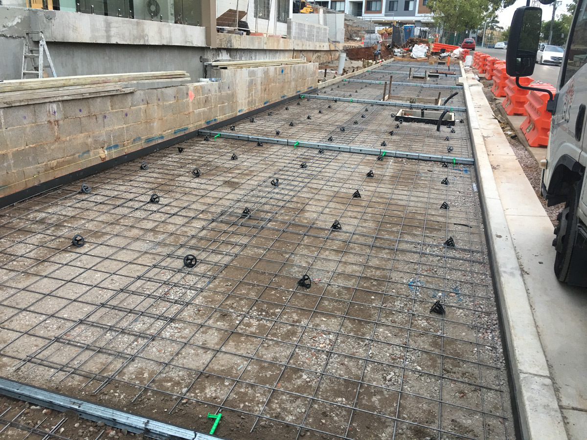 commercial concrete work